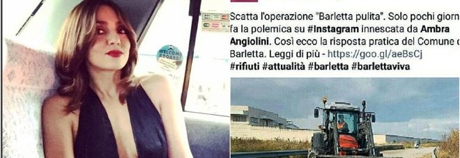 Ambra Angiolini pubblica una foto di Barletta, coperta di insulti dai cittadini