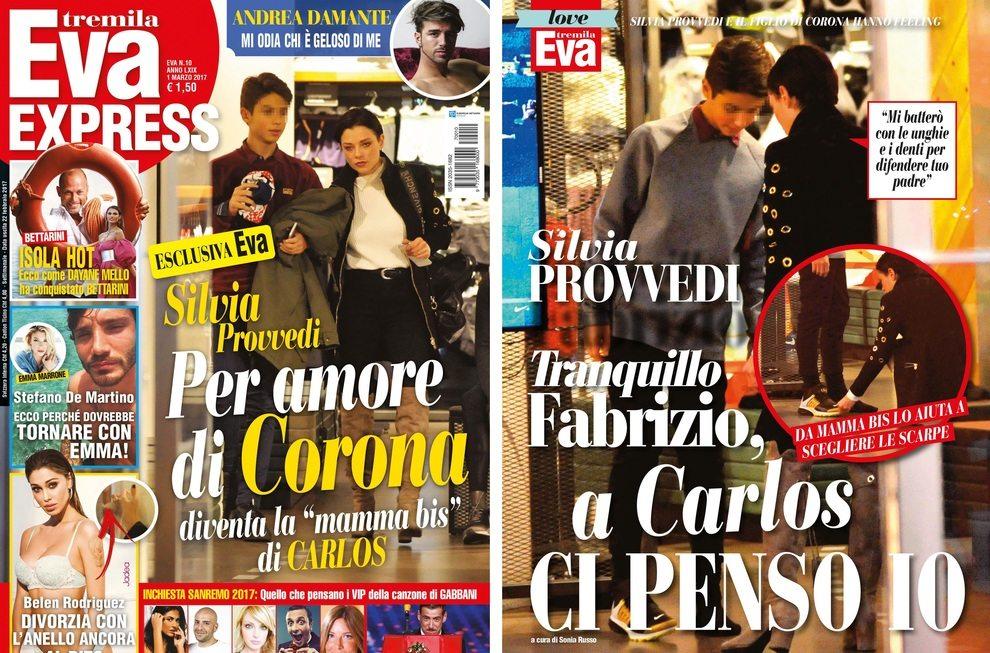 Silvia Provvedi mamma bis del figlio di Corona per amore di Fabrizio