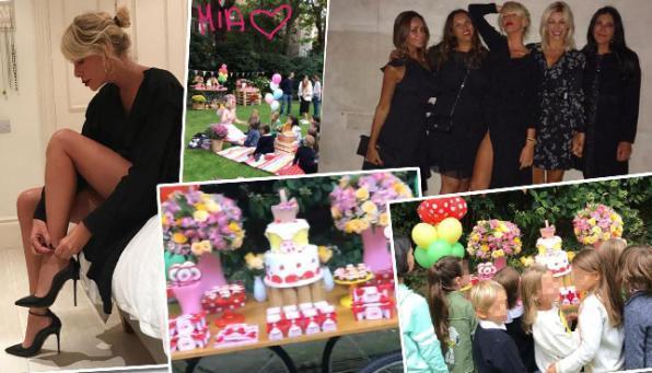 Alessia Marcuzzi e la sua famiglia allargata festeggiano il compleanno di Mia a Londra