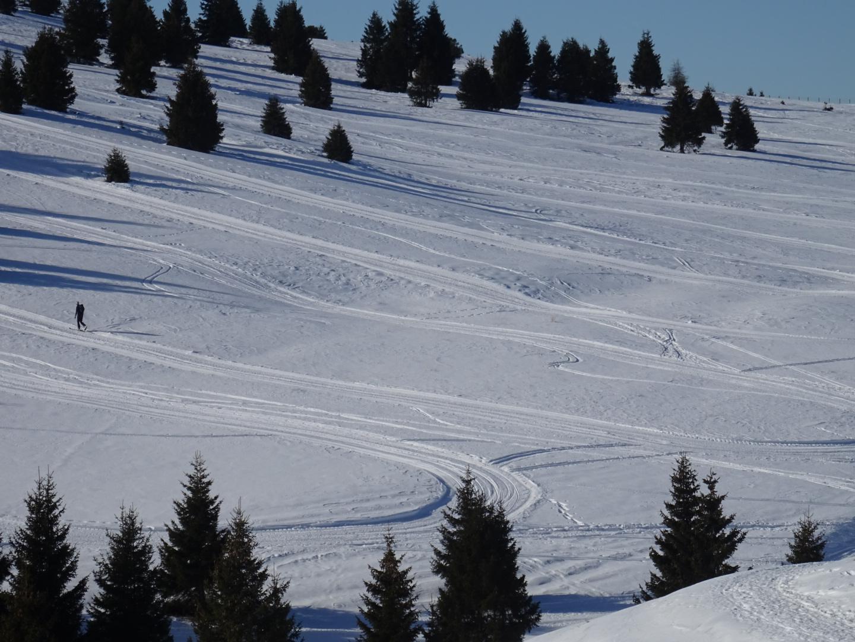 A camminare nella neve sul Monte Pora