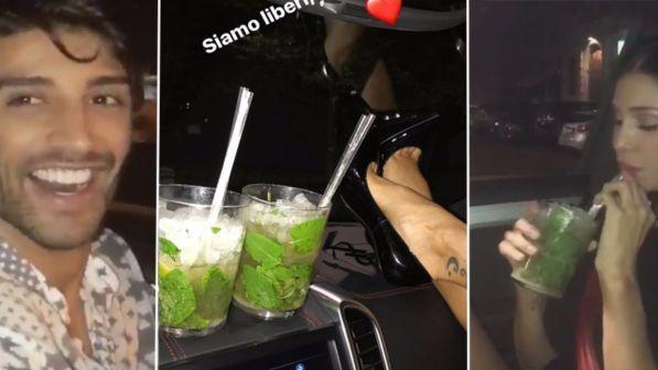 Belen, notte in auto tra musica e mojito con Iannone