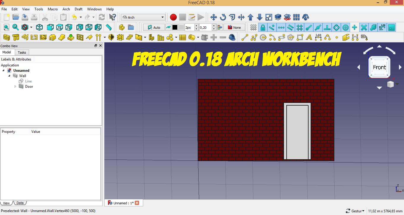 Freecad 0.18 fare un muro con i mattoni in Arch
