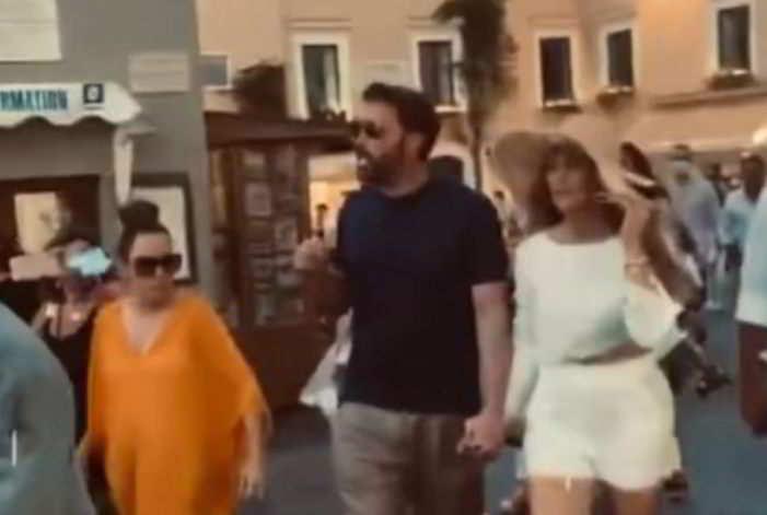 Ben Affleck e Jennifer Lopez, fuga d'amore a Capri