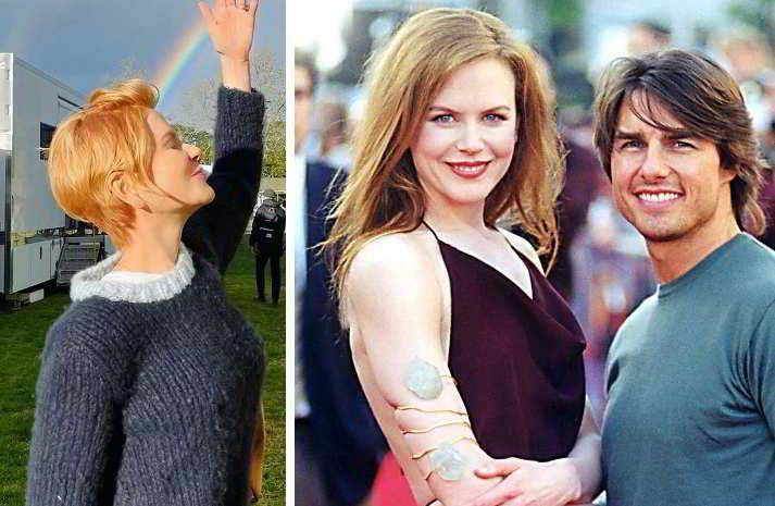 Nicole Kidman con i capelli da