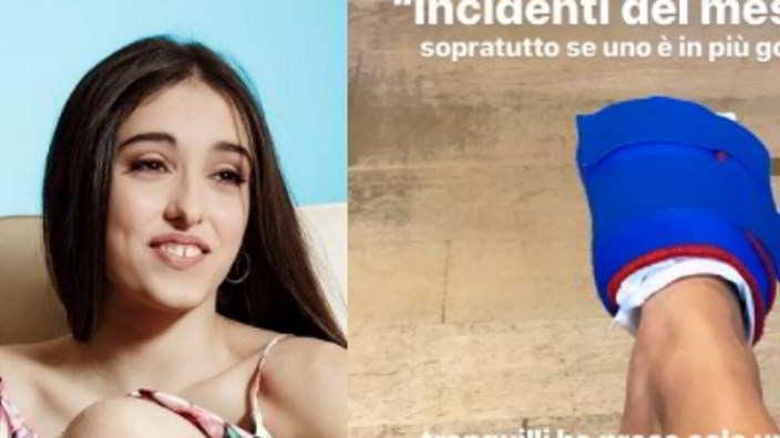 Incidente per Giulia Stabile durante una lezione di danza