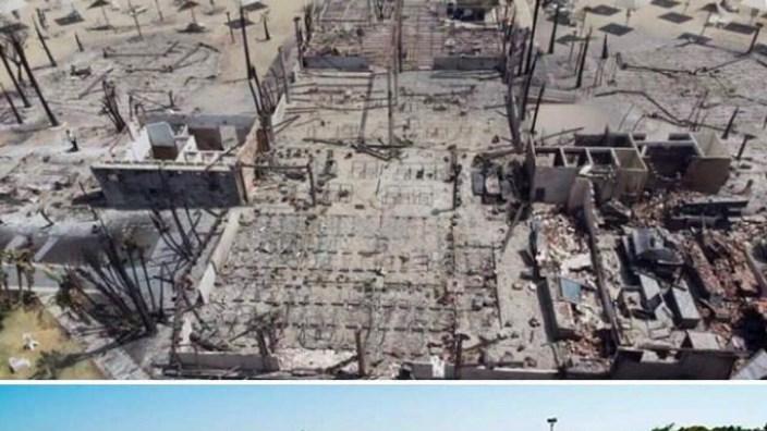 Lo stabilimento balneare dell'ex Amici Susy Fuccillo distrutto dalle fiamme