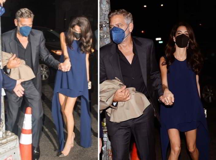 Amal e Clooney vanno a cena fuori mano nella mano