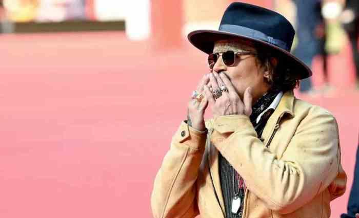 Johnny Depp sul Red Carpet della Festa del Cinema di Roma