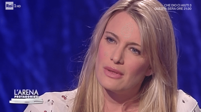 L'ex moglie di Gabriele Muccino piange in tv all'Arena