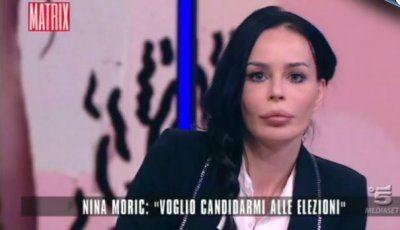 Nina Moric in tv sono di destra