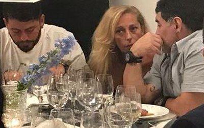 Maradona incontra pubblicamente Cristina Sinagra