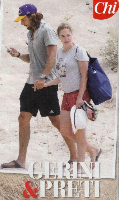 Claudia Gerini relax al mare con Andrea Preti