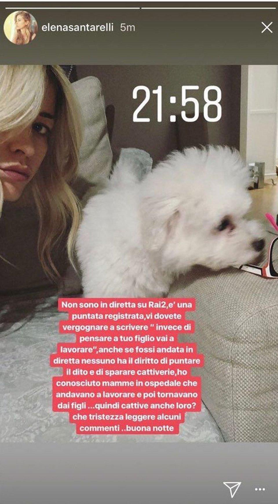 Elena Santarelli accusata di non essere una brava mamma