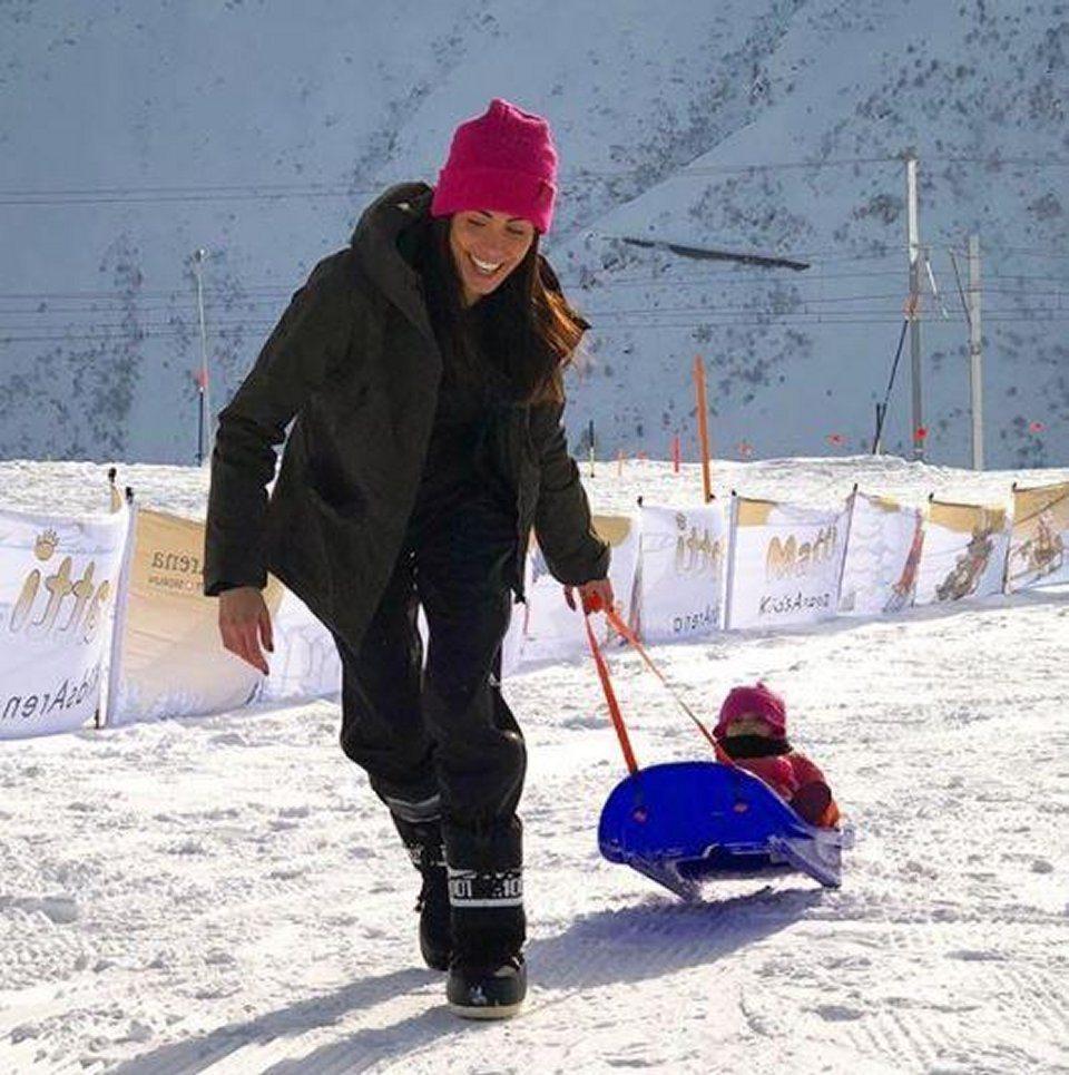 Federica Nargi e Alessandro Matri in vacanza sulla neve
