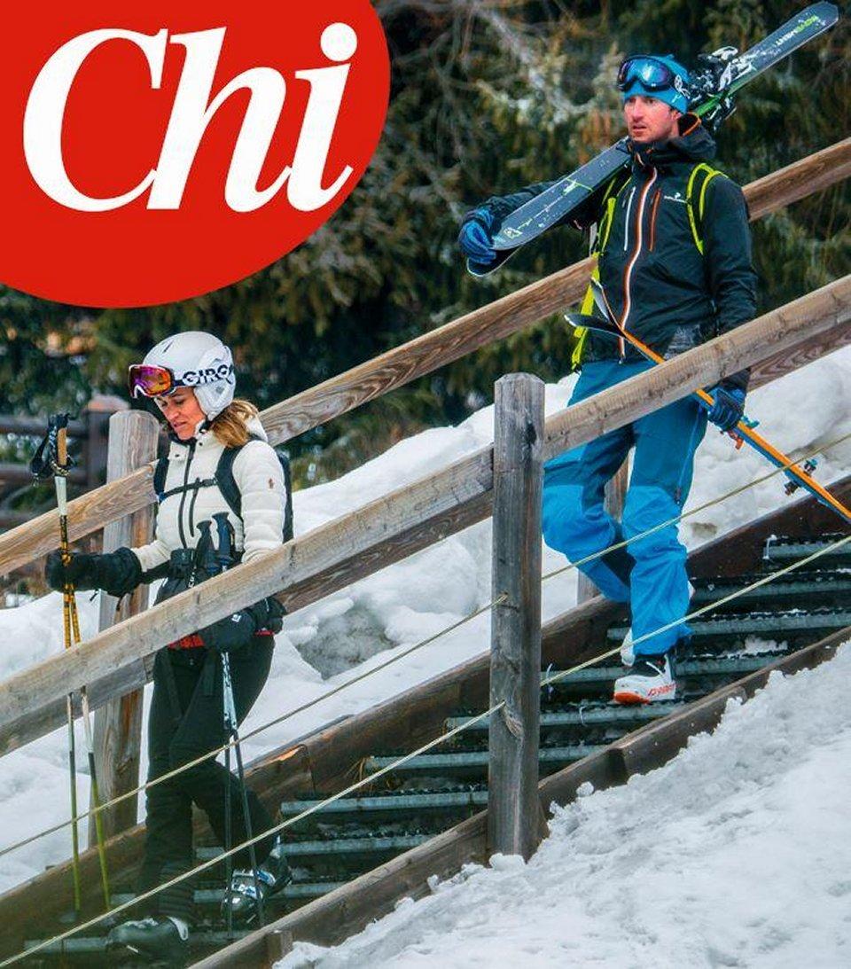 Pippa Middleton paparazzata sulla neve con il marito