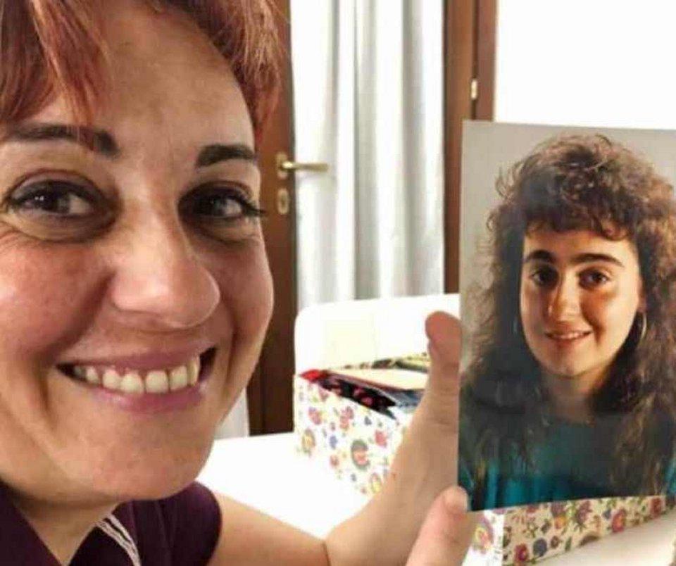 Benedetta Rossi irriconoscibile in una foto anni 80