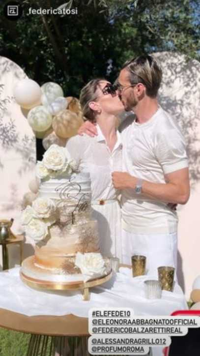 Eleonora Abbagnato e Federico Balzaretti festa per il loro decimo anniversario di nozze