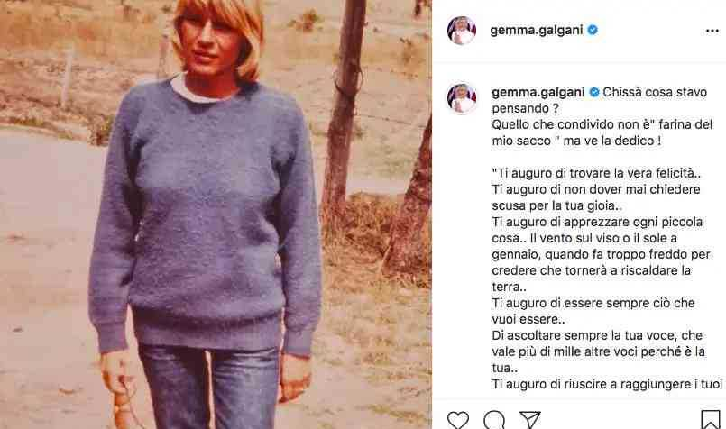 Gemma Galgani posta una sua foto da giovane