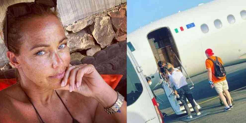 Sonia Bruganelli zittisce gli haters e posta la foto della figlia sull'aereo privato