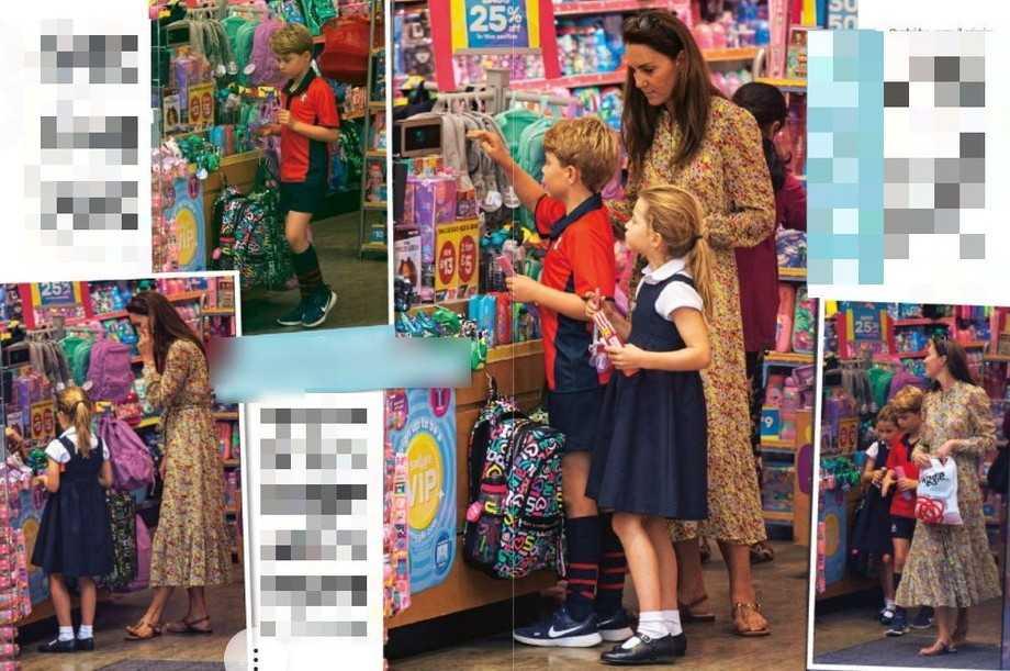 Kate Middleton fa shopping in cartoleria con George e Charlotte