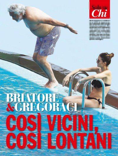 Flavio Briatore ed Elisabetta Gregoraci  musi lunghi al mare