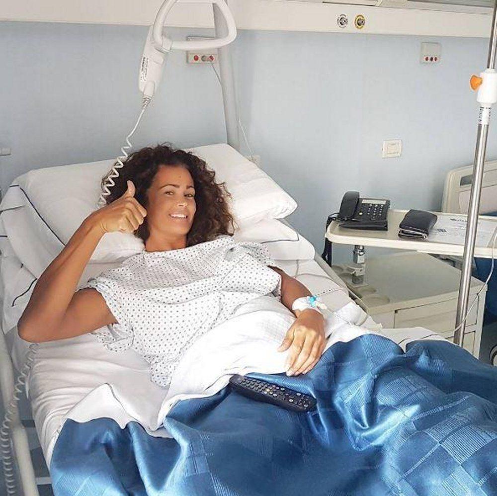 Samantha de Grenet l'operazione al menisco è andata bene