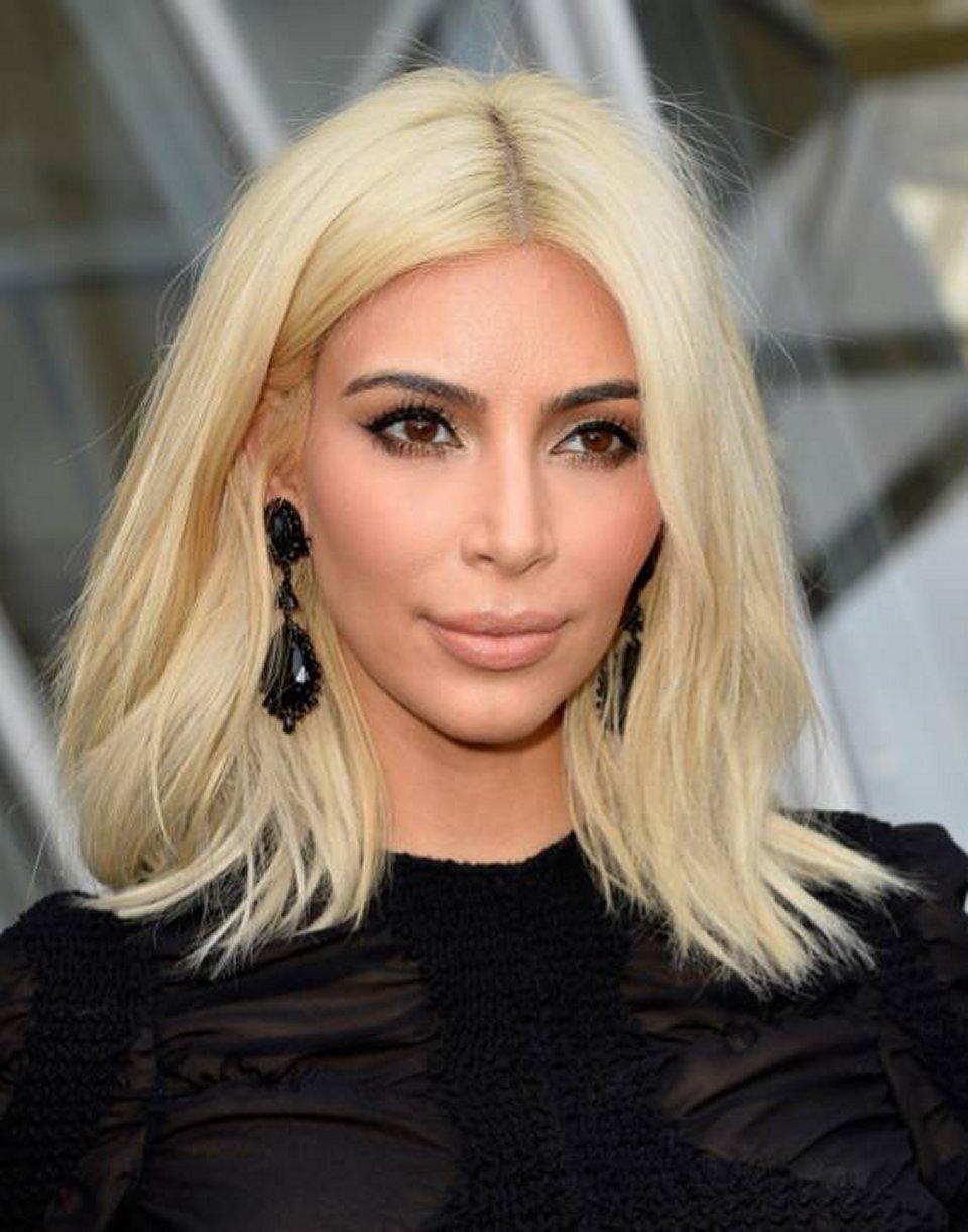 Fiocco rosa per Kim Kardashian