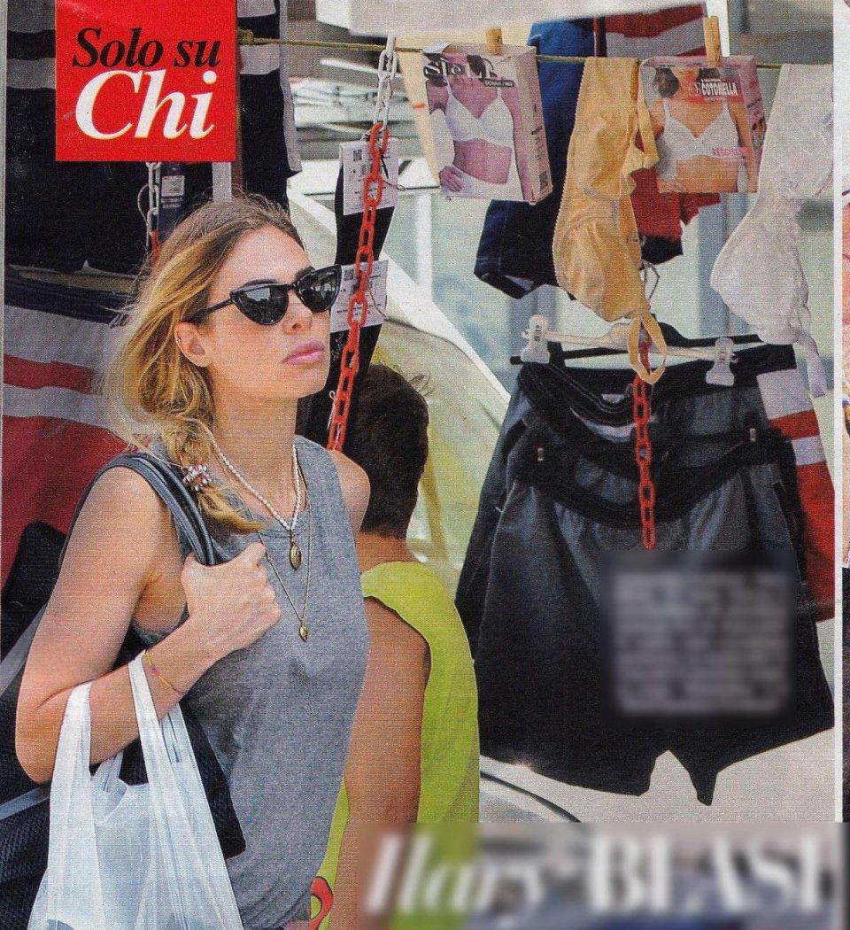 Shopping al mercato per Elisabetta Canalis e Ilary Blasi
