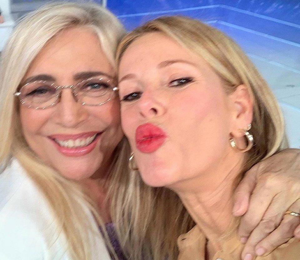 Alessia Marcuzzi faccia a faccia con Mara Venier a Domenica In