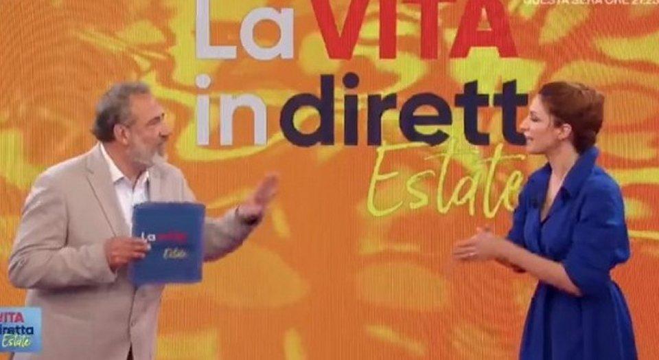 Andrea Delogu ha un battibecco a La vita in diretta con Marcello Masi