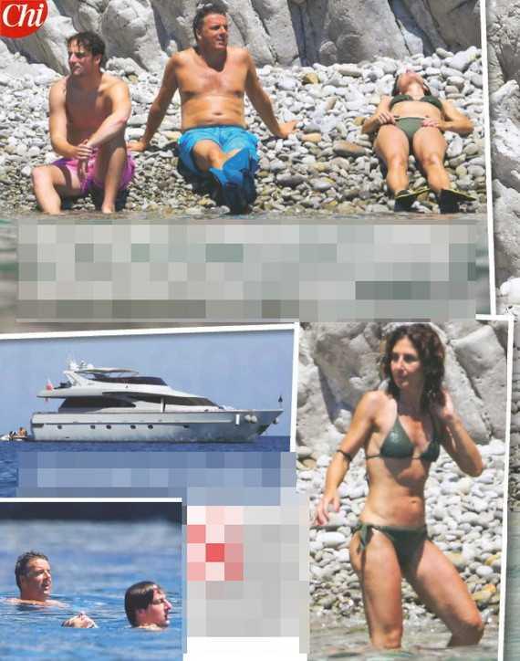 Matteo Renzi in vacanza con la famiglia sullo yacht a Ponza