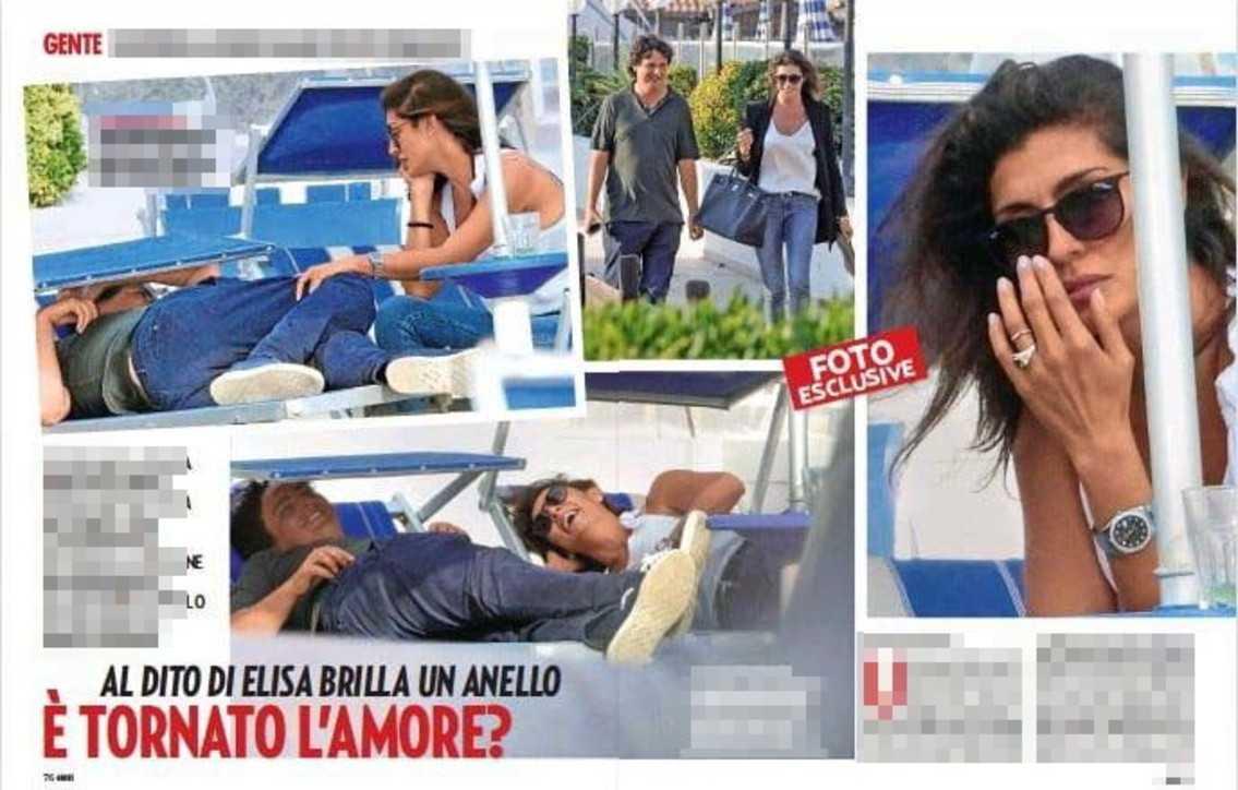 Elisa Isoardi è stata sorpresa in atteggiamenti affettuosi con il suo ex Alessandro di Paolo