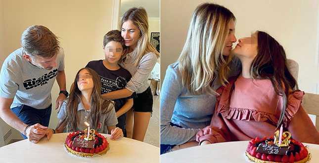 Eleonora Pedron e Max Biaggi riunione di famiglia per il compleanno della figlia Ines