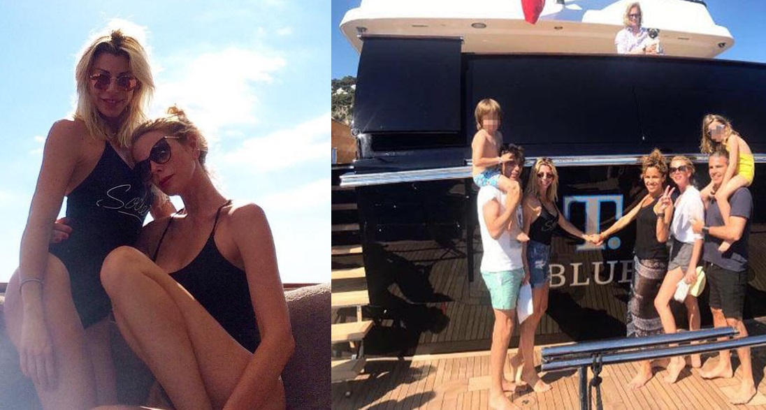 Alessia Marcuzzi, famiglia allargata a Capri