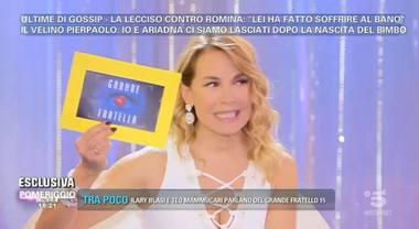 Grande Fratello, Barbara D'Urso: «Qui le conversazioni h0t tra Simone Coccia e Lucia Bramieri»