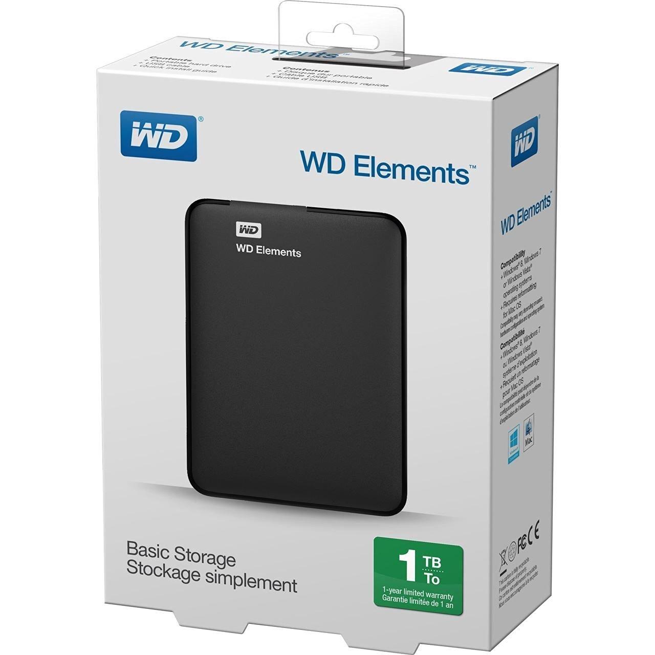 WD Elements Hard Disk Esterno Portatile Fino al 25% di sconto