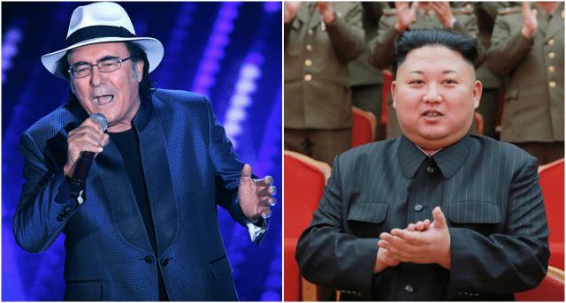 Al Bano Carrisi tende la mano al leader nordcoreano Kim Jong-un.