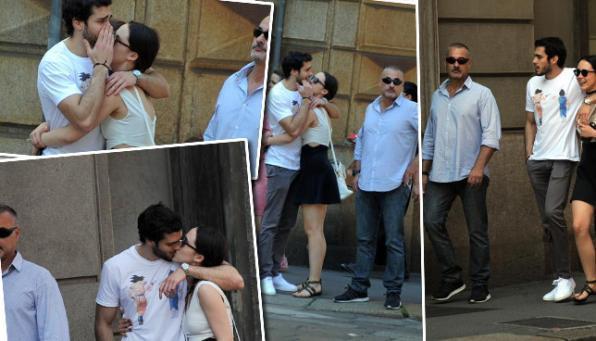 Aurora Ramazzotti, baci e coccole al fidanzato... sotto scorta