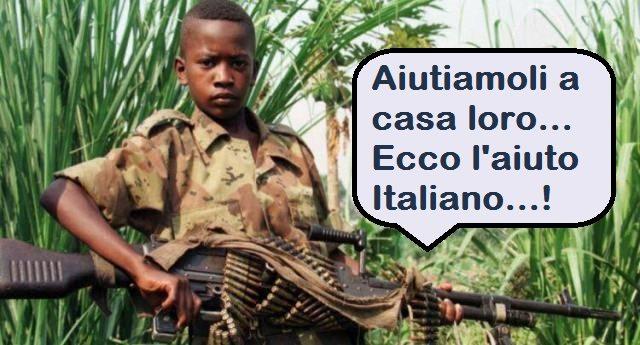 """Migranti - Ecco cosa intende Renzi quando dice """"aiutarli a casa loro"""": col suo Governo l'esportazione di armi è aumentata del 500%...!!!"""