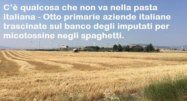 C'è qualcosa che non va nella pasta italiana - Otto primarie aziende italiane trascinate sul banco degli imputati per micotossine negli spaghetti.