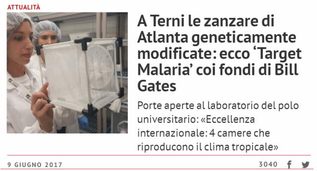 Malaria - Quell'articolo sulle zanzare pubblicato a giugno scorso da Umbria24 ora comincia a destare serie preoccupazioni...!!