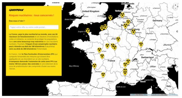 Greenpeace France denuncia l'incubo nucleare: reattori vecchi, logori e protetti in modo insufficiente - Tutti i Francesi interessati - Ma non è solo un problema loro, Chernobyl era ben più lontana, eppure...