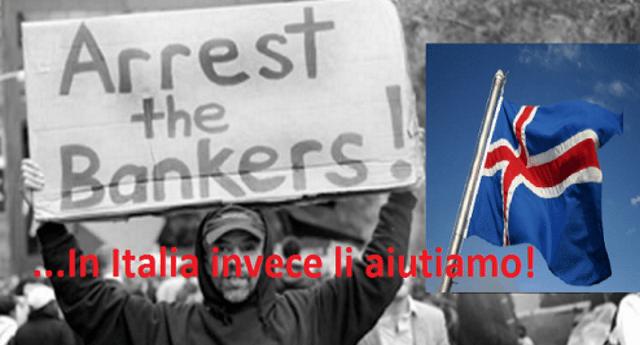 La fantastica ricetta con cui l'Islanda ha sconfitto la crisi: politici capaci, lasciate fallire le banche, sbattuti in galera i banchieri responsabili, rimborsata la gente con i soldi ricavati vendendo una banca, niente austerità!