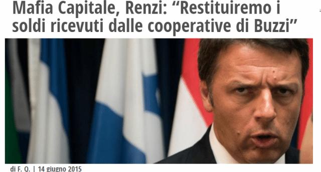 Scusi sig. Matteo Renzi, vorremmo solo ricordarle che il sig. Buzzi sta ancora aspettando...
