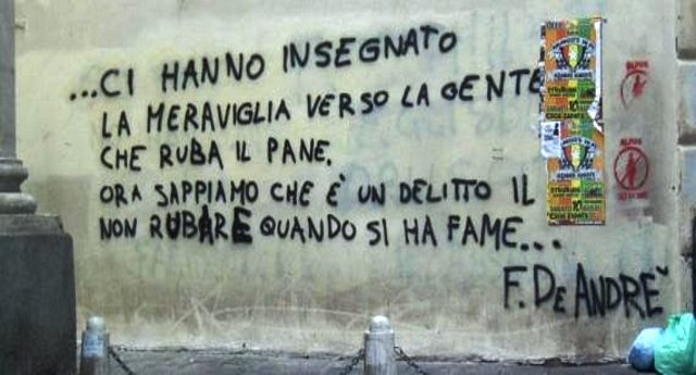 """Quando la Cassazione diede ragione a Fabrizio De Andrè: """"Rubare per fame non è reato"""" - """"annullata condanna a senzatetto sorpreso a rubare cibo"""""""