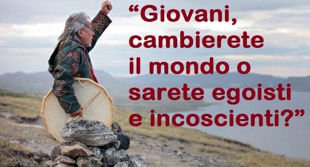 """L'appello dello Sciamano eschimese Angaangaq Angakkorsuaq: """"Giovani, dovete cambiare il mondo che vi lasciamo"""""""