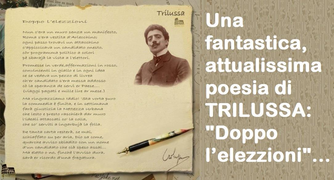 Poesie Di Natale Trilussa.Una Fantastica Attualissima Poesia Di Trilussa Doppo L