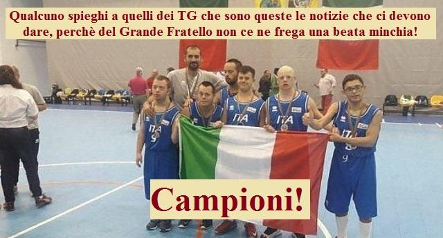 Le notizie che i Tg dimenticano di dare - La Nostra fantastica Nazionale di Basket composta da ragazzi con sindrome di Down vince l'oro agli Europei