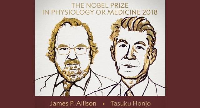 I Nobel per la Medicina Tasuku Honjo e James P. Allison: