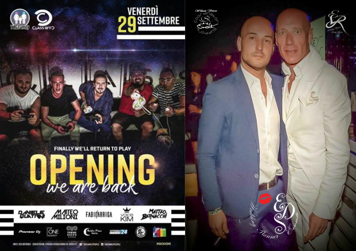 Inaugurazione della discoteca Classclub di Viterbo by Gianni Trombetta  Ospite la Eds WP Eventi nella persona di Erno Rossi & William Vittori.
